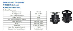 Eseguire la valvola manuale del filtrante del Xin per il filtro da acqua del RO 51210 (F56D)