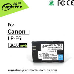 Nouvel appareil photo numérique de décodage pour Canon batterie LP-E6/LP-E6N6 Lpe/LPE6n afficher la quantité d'électricité