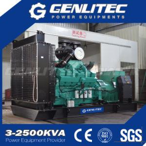 유형 600kw/750kVA에 근거한 연료 탱크 거치한 Cummins 디젤 엔진 발전기 세트를 여십시오