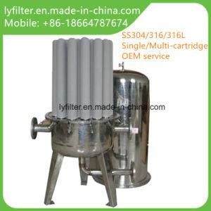 三クローバーの付属品が付いているカートリッジフィルターハウジングの三位一体の容器のステンレス鋼