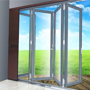 Алюминиевый профиль Bi-Folding двери с двойным очистить стекло