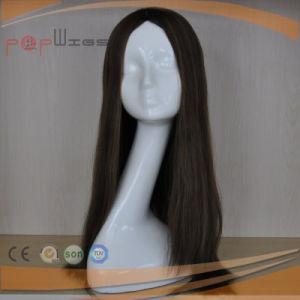 ブラジルの毛のハイエンド絹の上のかつら(PPG-l-0415)