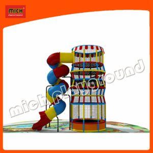螺線形のスライドが付いている上昇のくもタワー