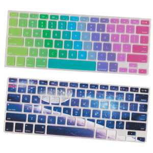 13 coloridos Notebook Teclado de silicone Capa de pele design de arco-íris