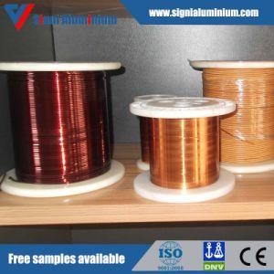 Clase 130/155/180/200/220 Esmaltada Cubierto Alrededor de la Tira de Aluminio del Alambre