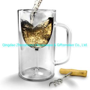 Замороженные питьевой двойные стенки стеклянной кружки пива