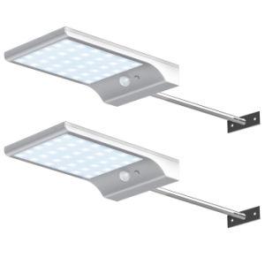 Для использования вне помещений 450 лм 36 светодиодный индикатор датчика движения на солнечной энергии является водонепроницаемым настенный светильник для сада с монтажный столб