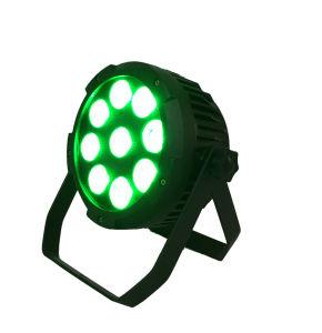 Resistente al agua 9*15W 5en1 Rgbaw Batería LED Luz superior de la luz de la etapa DMX512