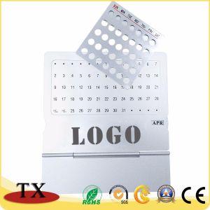 Perpetua de aluminio de metal personalizados para regalo de promoción calendario de escritorio