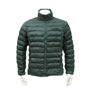 Homens e Mulheres Navy Portátil Verde casaco de inverno leve camada almofadada