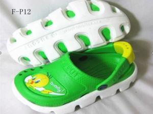 子供の歩きやすいエヴァの動物のスリッパかサンダルまたは靴(F-P12)