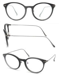 2017 Marcos de acetato de alta calidad y el Templo de titanio gafas de óptica