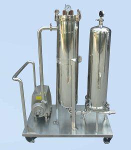 RO do alojamento do filtro de cartucho de filtragem previamente com a Bomba