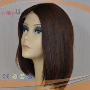 かわいい巻き毛の絹の上の方法様式のブラウンカラー最も売れ行きの良いハイエンド忍耐強い女性の医学のかつらを定着させる暗闇
