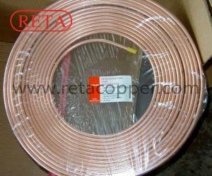 Ce tube en cuivre de réfrigération crêpe certifié