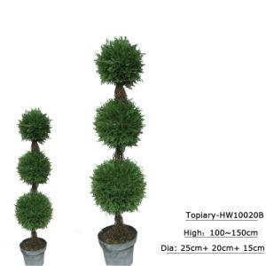 Decoração Bonsai Topiary Artificial Árvore de Esferas