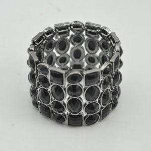 Armband Van uitstekende kwaliteit van het Kristal van het Metaal van het Kanon VAGULA de Zwarte