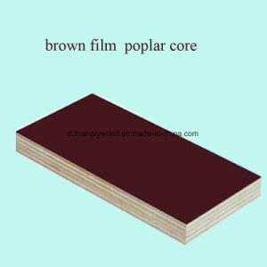 Schwarzer Film stellte Furnierholz mit Pappel-Kern gegenüber