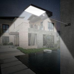100%の太陽エネルギーライトセンサー36 LEDの壁ライト屋外の庭の塀ランプの全体的な日の出