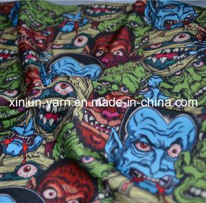 悪魔プリントカーテンまたは衣服のための多彩な文字ファブリック