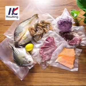 O plástico de nylon em relevo a embalagem a vácuo saco/bolsa para o arroz para embalar alimentos