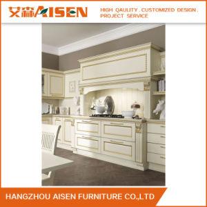 Estilo norte-americano de armário de cozinha em madeira maciça da China Fornecedor