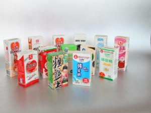 Papel recubierto de PE de la leche y zumo envasado