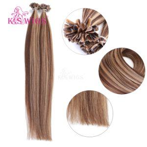Высшее качество Кератин U лак для ногтей наконечника сопла до кабального Реми человеческого волоса добавочный номер