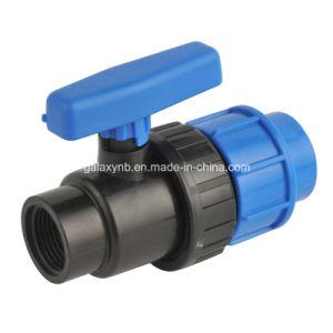 Color blu scuro pp Ball Valve per Irrigation