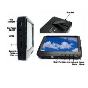 무선 5.8GHz 5 인치 차양 (32chs 의 32GB SD 기억 장치, 3200mAh 건전지)를 가진 소형 Fpv DVR 모니터
