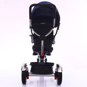 Marco del hierro y triciclo de goma del bebé de las ruedas del asiento tres del plástico