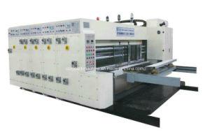 caja de cartón corrugado Flexo engranan y troquelado de la máquina de impresión