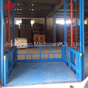 Tabella di elevatore fissa stazionaria verticale idraulica della guida di guida della catena della parete di 5-20ton 3-15m Shandong con la certificazione di iso del Ce