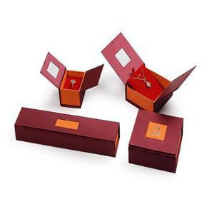 革ビロードの宝石類キャンデーの装飾的な荷箱の香水ボックススーツの箱のバッジボックス紙袋の宝石類のリングの腕輪のネックレスの包装ボックス(Lj08)