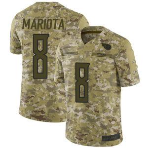 Camo 2018 Salute al servicio de Jersey camisetas de titanes 8 Marcus Mariota