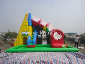 Salto de juguete inflable castillo hinchable tobogán para Parque de Atracciones