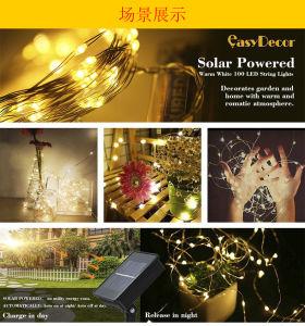 Der Sonnenenergie-LED kupfernes Zeichenkette-Licht Zeichenkette RGB-100 Ledsled