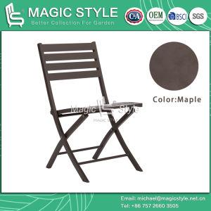 Outdoor cadeira dobrável em alumínio Jardim Pátio Cadeira Cadeira de jantar e café Chair Hotel móveis de vime