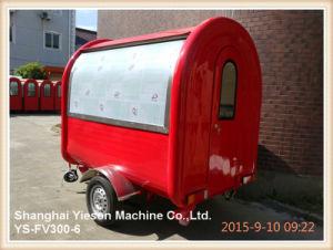 Ys-Fv300-6赤い食糧トラックの販売のための移動式食糧車