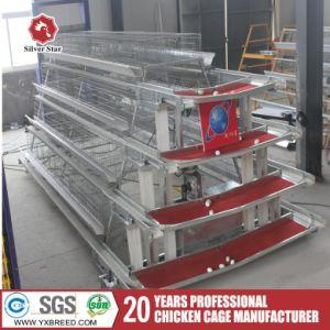 De gegalvaniseerde Kooi van de Laag van de Batterij van de Machines van het Landbouwbedrijf van het Fokken van de Kip met het Automatische Voeden