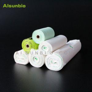 100% biodegradable de compras de plástico/basura/basura la fécula de maíz Compostable bolsas cumplen la norma EN13432 y ASTM D6400 Pbat estándar/Material de base biológica de PLA