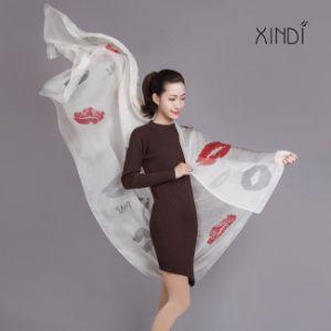 100 шелковые шарфы шифон моды шарфы Леди Bandana цифровой печати