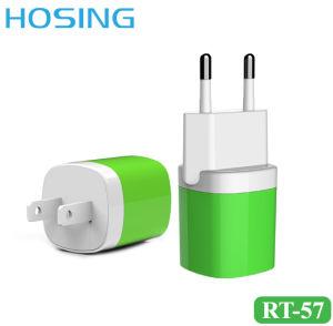5V 1A EU私達イギリスのプラグの壁の充電器iPhone/Huawei/Samsungのための小型USBの充電器OEMカラー