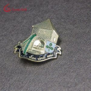 卸し売り銀によってめっきされるアルファベットアラブ首長国連邦のバッジの折りえりPin