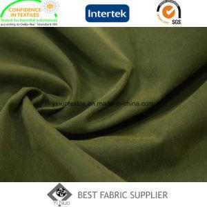 93% polyester 7 % de micro-fibres de nylon Moss Peach enduire Tissu Tissu de peau veste