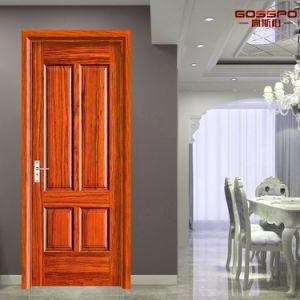 Portello di legno interno composito del MDF dell'impiallacciatura di mogano interna (GSP6-012)