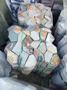 Het Bedekken van het Netwerk Tegel van uitstekende kwaliteit van de Lei van de Flagstones van de Gang de Natuurlijke voor Openlucht