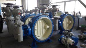Válvula de vedação de metal duplo direcional Dn3000 com conexão autolimpeza para o sistema de circulação de água