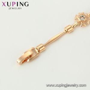 Простые латуни цепь браслет в Роуз Gold