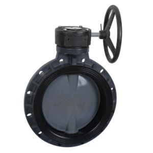 Válvula de Mariposa /Válvulas de Plástico/PVC/válvula de Mariposa de Termoplástico